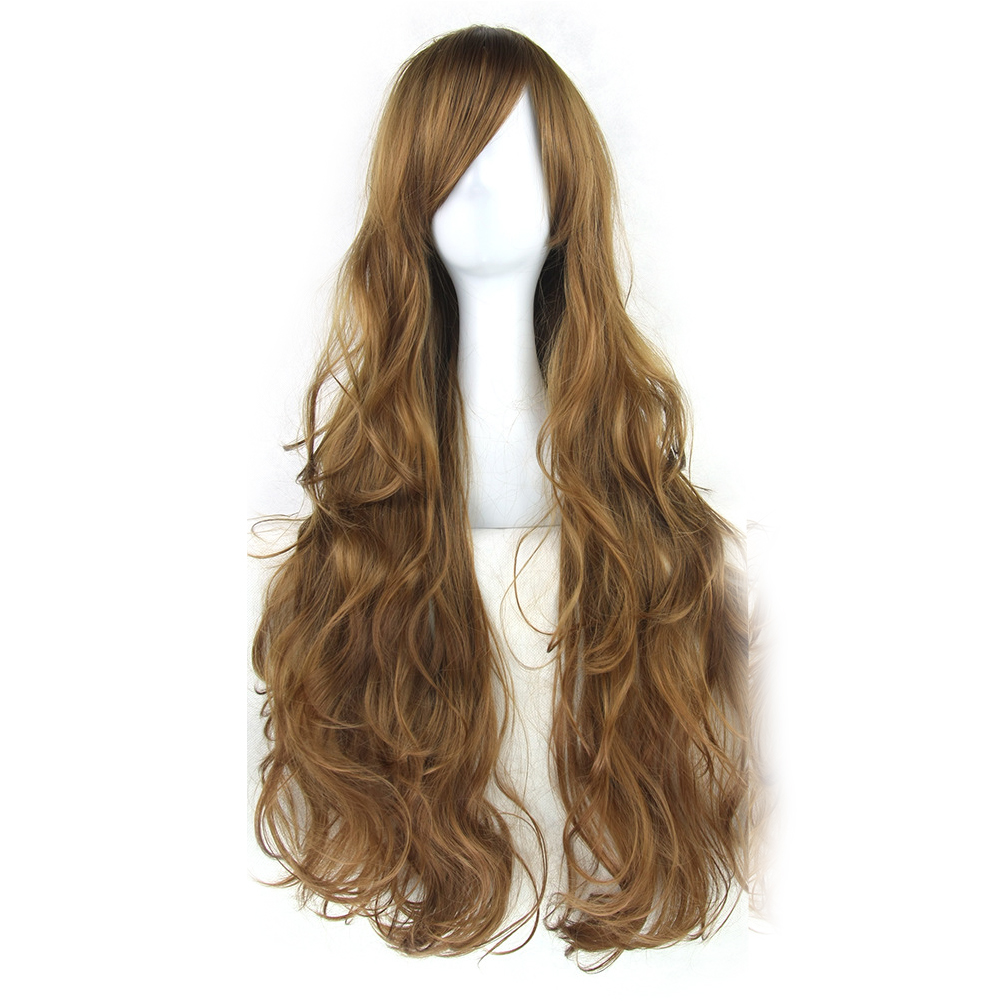 cosplay wig long curly cartoon fiber hair for women 80cm