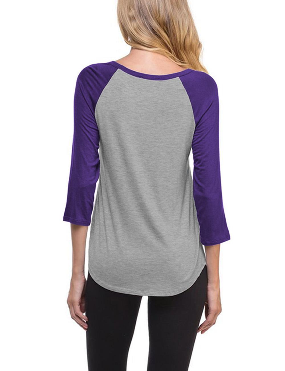 Us womens fashion v neck raglan 3 4 sleeve baseball t for Types of womens shirts