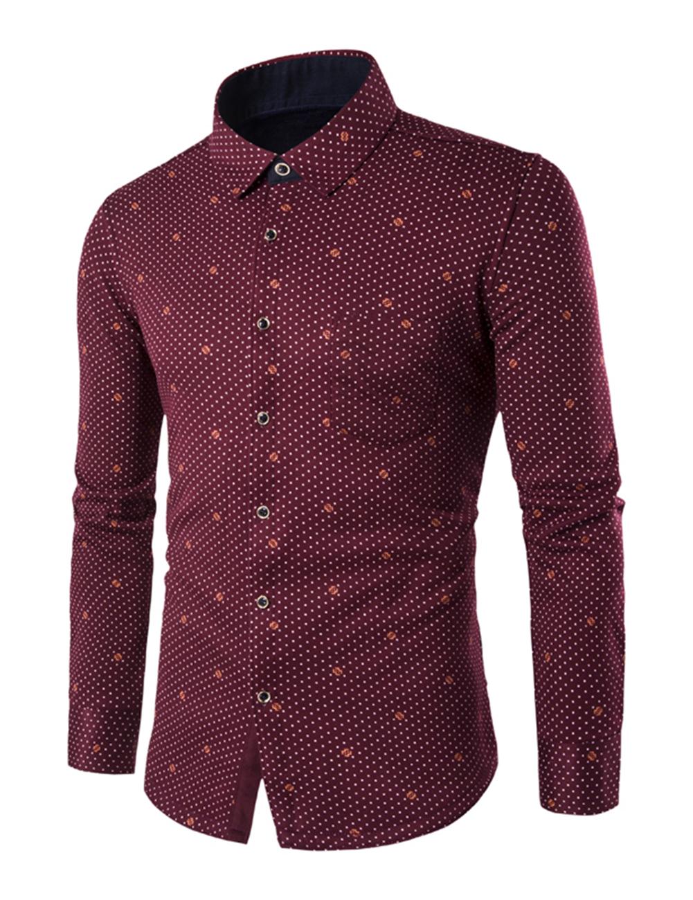 Us men 39 s fall winter warm fleece lining dress shirt casual for Mens warm flannel shirts