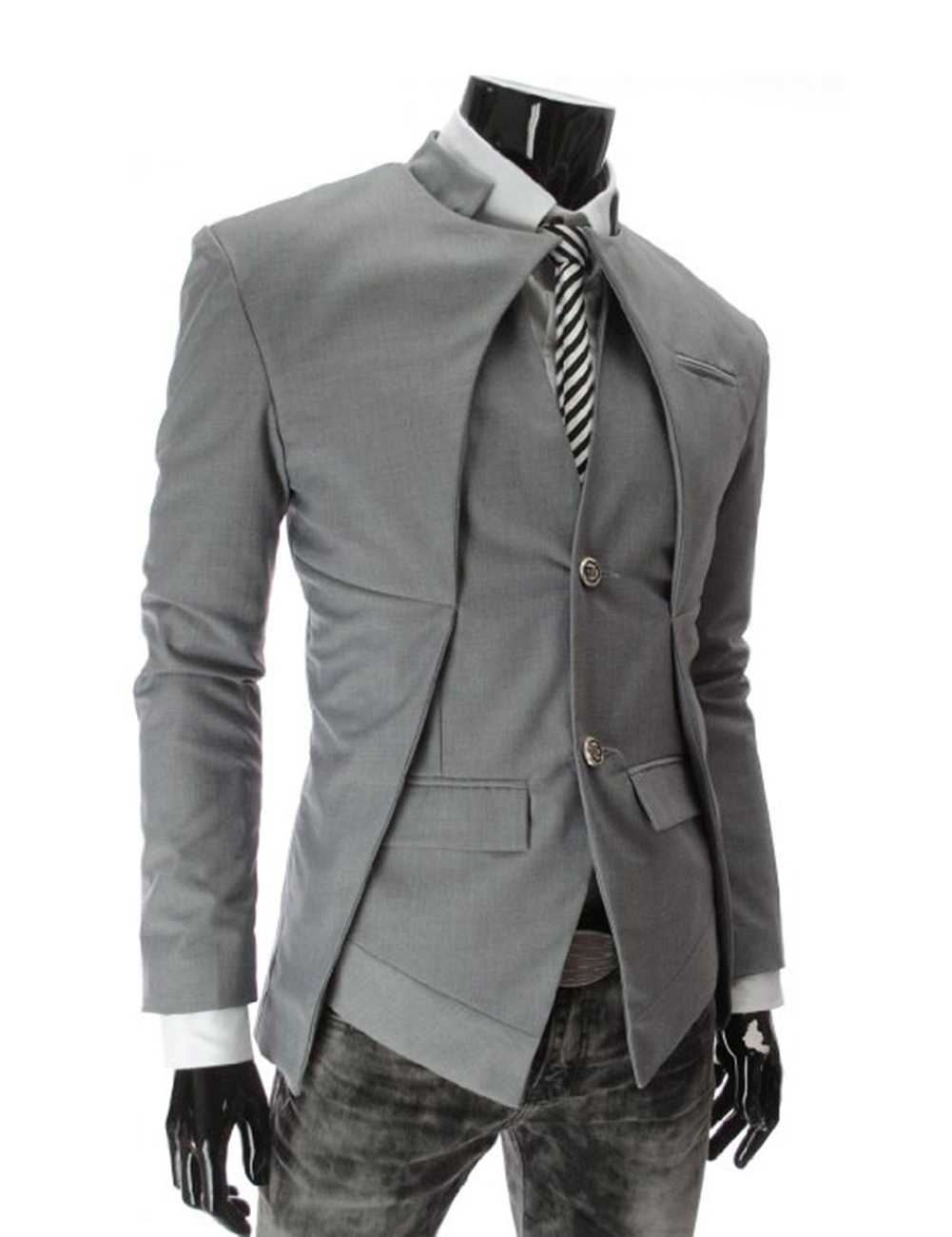 us cool mens long sleeve standup collar tuxedo waistcoat