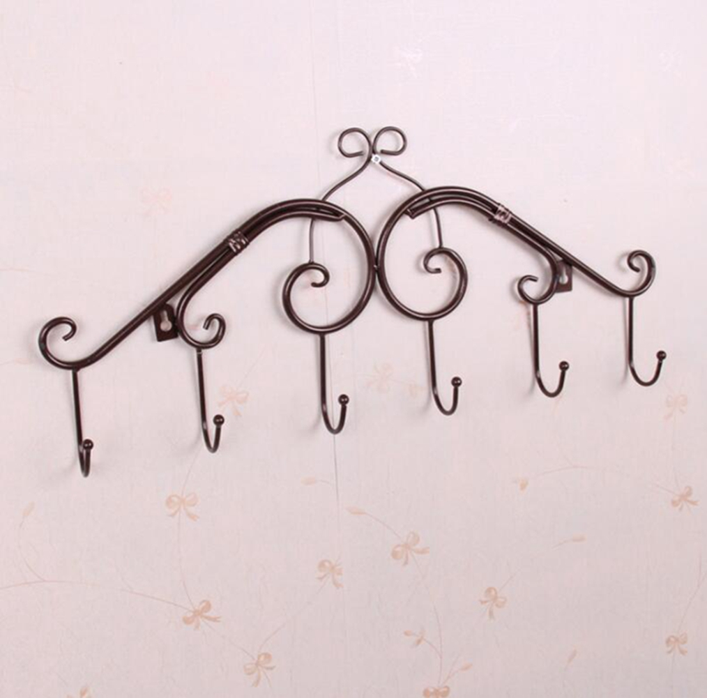 Decorative Wall Mounted Metal Coat Hat Hook Clothing Rack