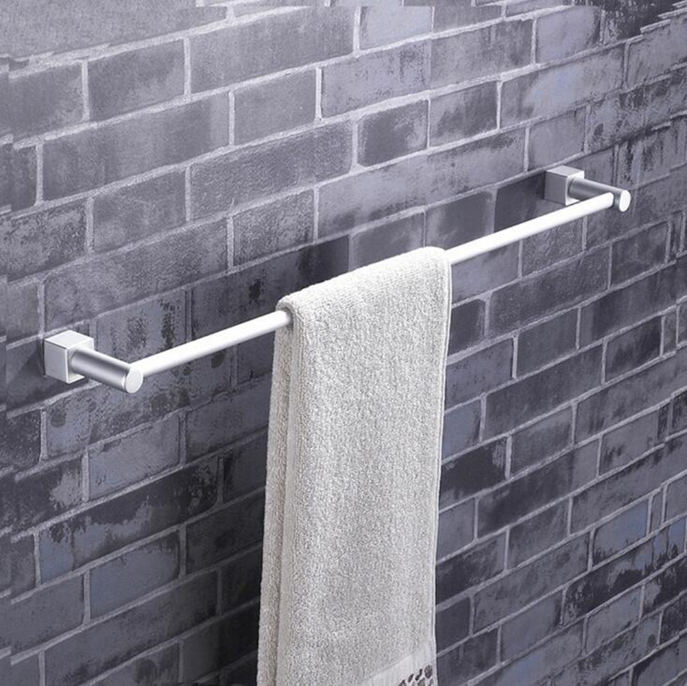 Space aluminum towel rack bathroom accessories towel bar for Bathroom accessories lazada