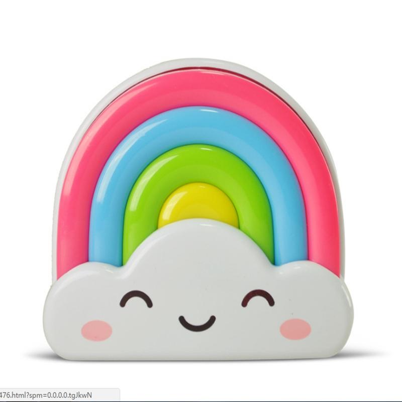 mini regenbogen led sensor nachtlicht fernbedienung f r baby kinder schlafzimmer ebay. Black Bedroom Furniture Sets. Home Design Ideas