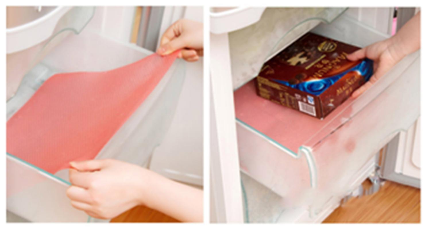 1pcs Oil Resistant Kitchen Drawer Mat Shelf Liner Fridge Cabinet Storage Pads Us Ebay