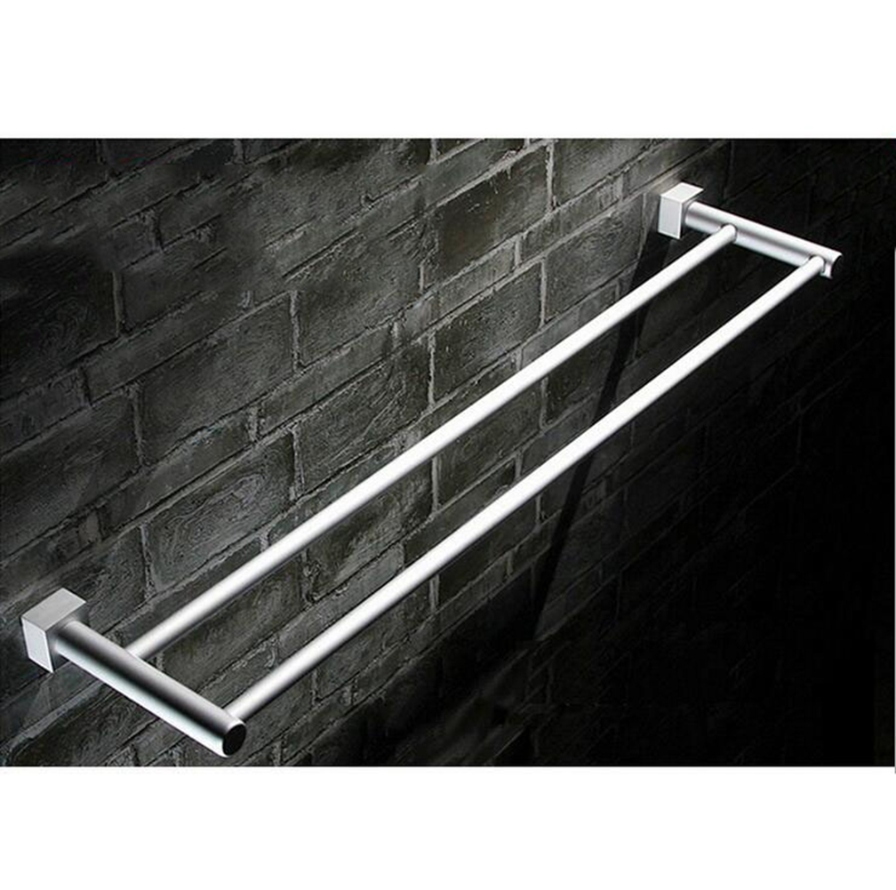 60cm space aluminum bath towel rack bathroom accessories - Bathroom towel holders accessories ...