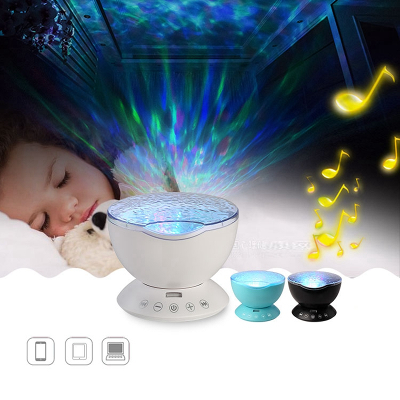 Ocean Wave Music Projector Lamp Led Night Light With