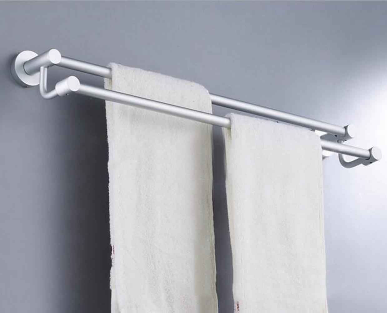 Space Aluminum 2 Tier Towel Rack Bathroom Accessories Towel Bar Holder