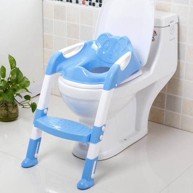 Children Kids Baby Toilet Potty Seat With Ladder Training