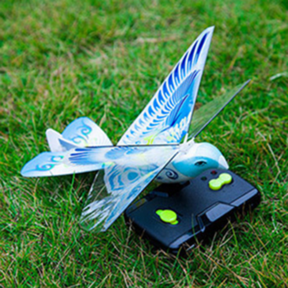 Flying Bird Toy : Flying avitron bionic blue bird ornithopter remote control