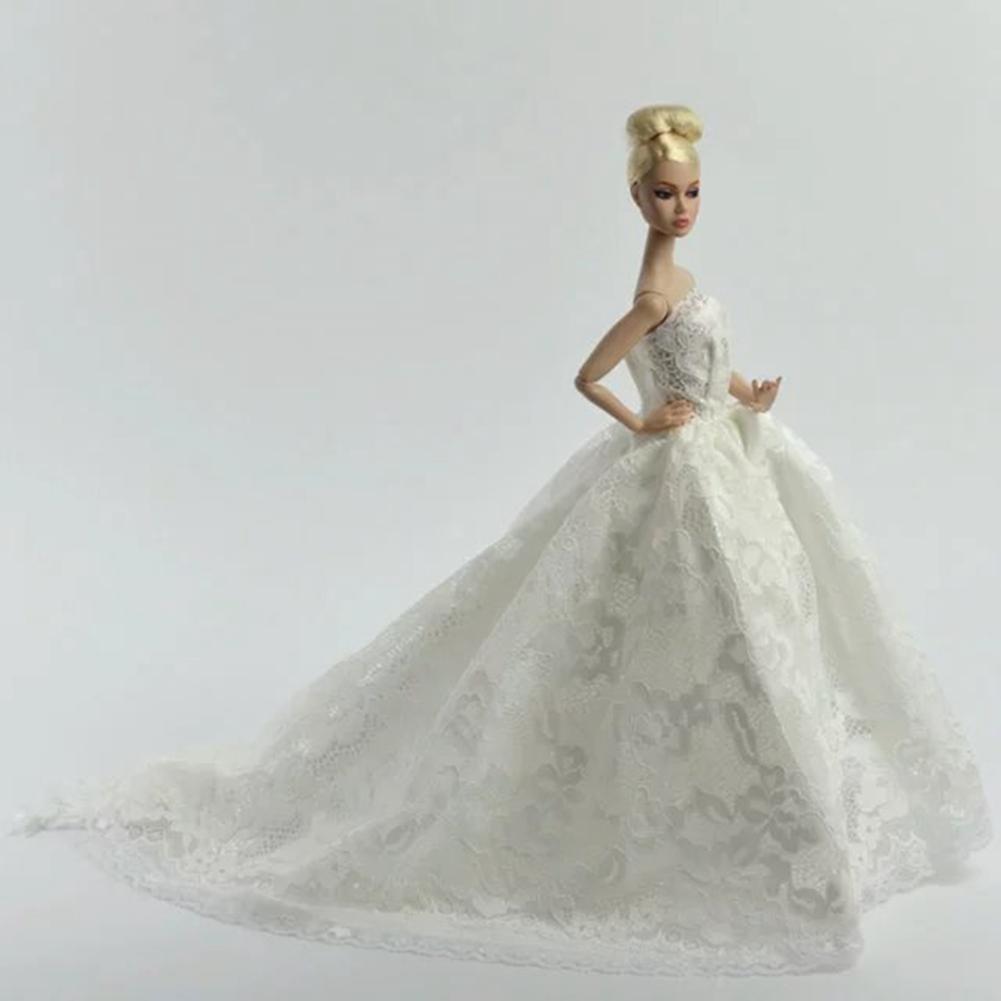 Weißes Herrliches Brautkleid langes Hochzeitskleid mit Schleier für ...